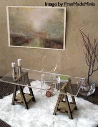 miniature ikea inspired vika desk kit for 112 scale modern dollhouse in wood vintage modern dollhouse furniture 1200 etsy