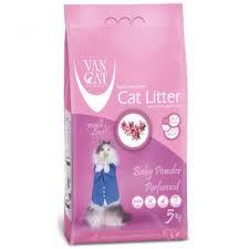 <b>Van Cat</b> White Clumping Bentonite Cat Litter <b>Baby Powder</b> 5Kg Buy ...