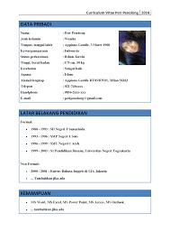 format cv yang benar resume samples format cv yang benar contoh cv daftar riwayat hidup yang baik dan profesional cv lamaran kerja