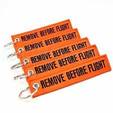 <b>3 Pcs lot</b> Remove Before Flight Embroidery Multi Colour Keychain ...