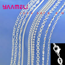 Big Promotion! <b>100</b>% <b>Authentic 925 Sterling</b> Silver Chain Necklace ...