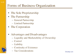 forms of business organisation corporate finance lecture slides this is only a preview
