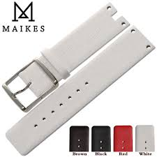 <b>MAIKES New Arrival Genuine</b> Leather Watch Band Strap Black ...