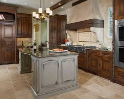 ideas gray island pinterest kitchen travertine floor dark cabinets design pictures remodel decor a