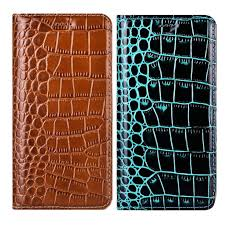 Luxury <b>Business Flip</b> Crocodile <b>Genuine</b> Leather <b>Phone Case</b> For ...