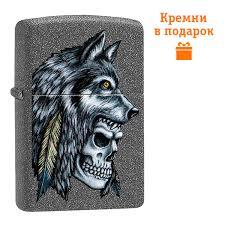 ROZETKA | <b>Зажигалка Zippo Wolf Skull</b> Feather Design 29863 ...