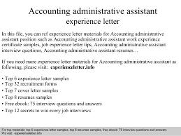 accounting administrative assistant experience letter jpg cb  accounting administrative assistant experience letter in this file you can ref experience letter materials for
