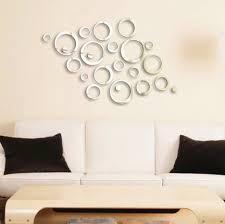 mirror wall decor circle panel:  large size of wall decor shining circles mirror fashion modern design silver mural art home
