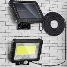 <b>100LED Solar</b> Light Outdoor Motion Sensor Recharge <b>Solar</b> Wall ...