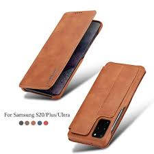 <b>Leather Flip Wallet</b> For Samsung S20 S20plus <b>Magnetic Case</b> For ...