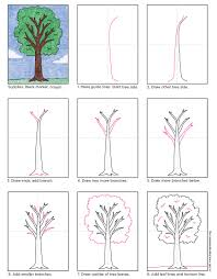 how to draw a tree   art projects for kidsi made this tutorial in hopes that students could break some of the habits i see often regarding trees  all they need to do is make the branches skinnier