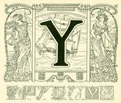 Image result for ornate initial capital Y