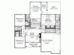 French Country House Plan   Square Feet and Bedrooms    Level
