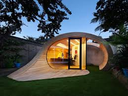 timber shoffice is a naturally daylit garden shed office combo in london building a garden office