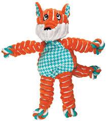 <b>KONG игрушка</b> для собак <b>Floppy Knots</b> Лиса малая 24х15 см