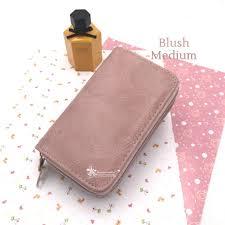 Double Zipper <b>Leather</b> Quality <b>Ladies</b> Cute Wallet <b>Korean</b> Wallet for ...