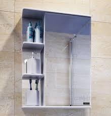<b>Зеркальный шкаф 50х70 см</b> белый глянец Санта Ника 101085 ...