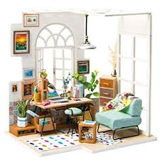 Buy Rolife <b>DIY Wooden Miniature Dollhouse</b> Kit with Led Light-Mini ...