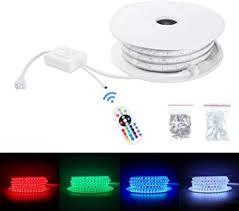 Brillihood Flexible <b>LED</b> RGB Rope Light Strip, Multi Color Changing ...