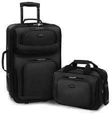 U.S Traveler Rio Two <b>Piece</b> Expandable Carry-on Luggage <b>Set</b>