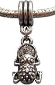 lucky money toad feng shui silver tone dangle charm bead by crystal charmz pandora troll angle feng shui