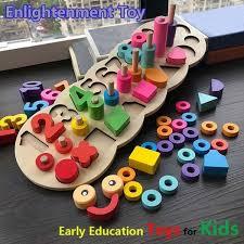 <b>Children Wooden Montessori Materials</b> Learning Toys Building ...