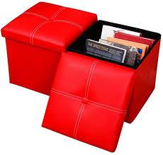 Baoyo Plain Foldable <b>Storage Ottoman</b> Footrest Pouffe, Portable ...