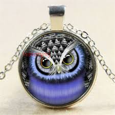 NEW <b>sale</b> Beauty <b>Lovely Owl</b> 25MM glass cabochon necklace Silver ...