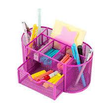 <b>Desk</b> Office <b>Table</b> Organizer Supplies <b>Metal Mesh</b> Pen Pencil ...