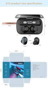 【duto】 <b>A13 TWS</b> Breathing Light <b>Touch Wireless</b> Bluetooth 5.1 ...