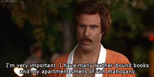 Image result for image of ron burgundy in mirror