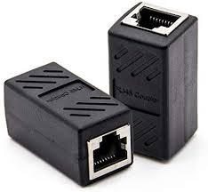 ZYAMY 1PC Black RJ45 Coupler in-Line Coupler <b>Network LAN</b> ...