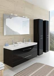 modern bathroom furniture altare in glossy black with washbasin in ceramic from villeroy en boch bathroom furniture modern