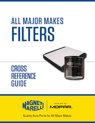 Filters Cross Reference Guide