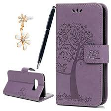 Miagon for Huawei P Smart Z Embossed Case,<b>PU Leather Wallet</b> ...