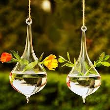 Hanging Glass Vase Home Garden <b>Decoration</b> Supplies Drop ...