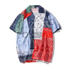 <b>Dark Icon</b> Bandana Hawaiian Shirt Men Women 2020 Summer ...