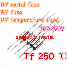 <b>RY 100pcs</b>/<b>lot</b> New Micro <b>thermal fuse</b> 10A250V 250 Degrees 250 C ...