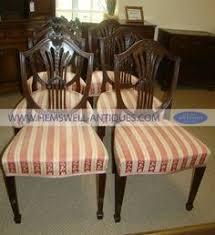 hepplewhite shield dining chairs set: beautiful set of antique hepplewhite style dining chairs