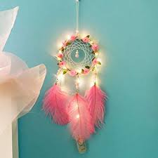 Handmade <b>Dream Catcher</b> LED, <b>Dreamcatcher Feathers</b> Night Light ...