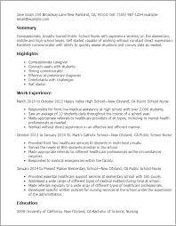 resume templates public school nurse school nurse resume sample