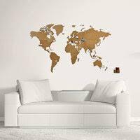 «<b>Карта мира</b> Wall Decoration Brown 90 x 54 cm (<b>деревянные</b> ...