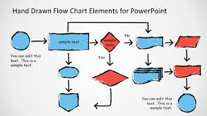 flow chart powerpoint templatesawesome hand drawn flow chart diagram for powerpoint