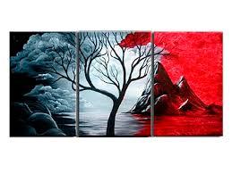 <b>3 Pieces</b>/set Modern Abstract Painting The Cloud Tree <b>HD Print</b> Wall ...