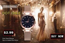 Luxury Women Watches Ladies Magnetic Starry Sky Clock <b>Fashion</b> ...