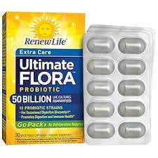 Renew Life, <b>Extra Care Go-Pack</b>, <b>Ultimate</b> Flora Probiotic, 50 Billion ...