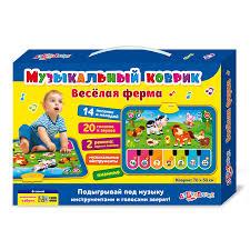 <b>Музыкальный коврик</b> пианино для детей <b>Весёлая</b> ферма