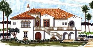 El Palmar Adobe House Plan    ALP  M   Chatham Design Group    Spanish Colonial style piling home   bedrooms  full bathrooms and half bathrooms  This home features a study  a formal dining room  a large pantry
