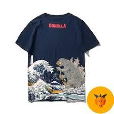 Japanese Art Godzilla Men's T-shirt | Fantasy in 2019 | Japanese art ...
