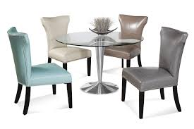 faux leather dining chair black:  faux leather high back dining chair with chrome legs office